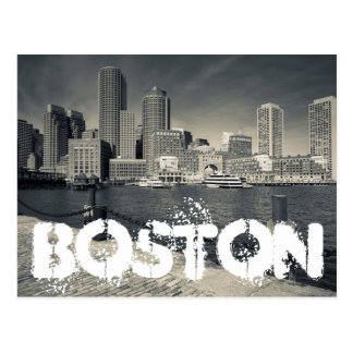 Massachusetts, Boston, edificios del muelle de Tarjeta Postal