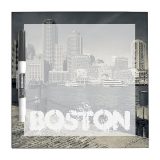 Massachusetts, Boston, Rowe's Wharf buildings Dry-Erase Board
