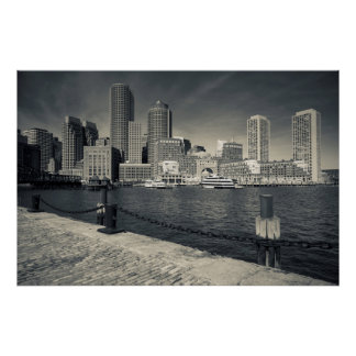Massachusetts, Boston, Rowe's Wharf buildings Poster