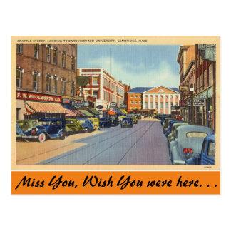 Massachusetts, Brattle St., Cambridge Postcard