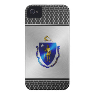 Massachusetts brushed metal flag Case-Mate iPhone 4 case