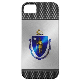Massachusetts brushed metal flag iPhone SE/5/5s case