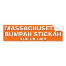 Massachusetts Bumpah Stickah Funny Bumper Sticker