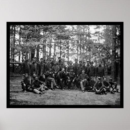 Massachusetts Cavalry at Petersburg, VA 1864 Poster