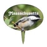 Massachusetts Chickadee Cake Picks