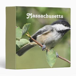Massachusetts Chickadee Vinyl Binders