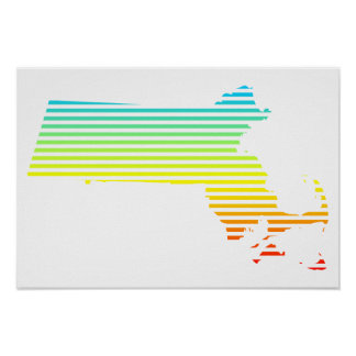 massachusetts chill fade poster