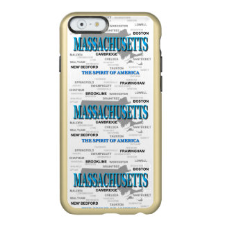 Massachusetts Cities and Towns State Map, Boston Incipio Feather Shine iPhone 6 Case