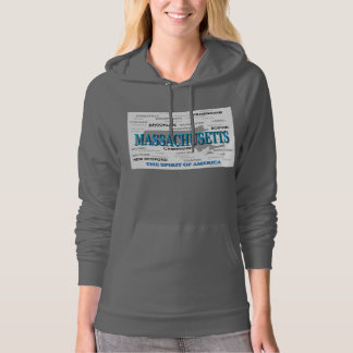 Massachusetts Cities and Towns State Pride Map Hoodie