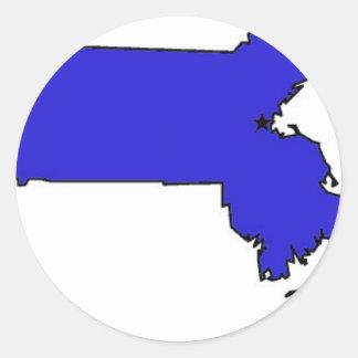 Massachusetts Classic Round Sticker