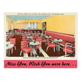Massachusetts, Cocktail Lounge, New Bedford Post Cards