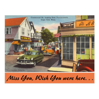 Massachusetts, Commercial St. Provincetown Postcard