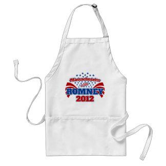 Massachusetts con Romney 2012 Delantal