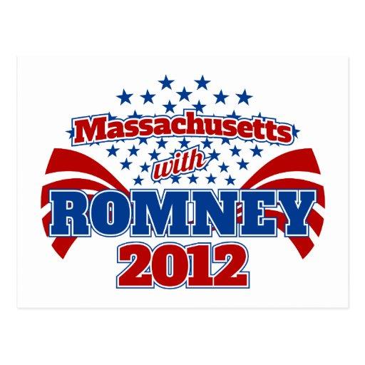 Massachusetts con Romney 2012 Postales