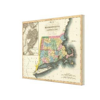 Massachusetts, Connecticut, Rhode Island Canvas Print