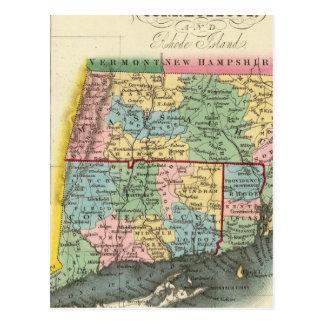 Massachusetts, Connecticut, Rhode Island Post Card