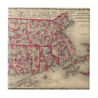 Massachusetts, Connecticut, y Rhode Island Azulejo Cuadrado Pequeño