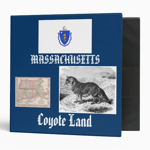 Massachusetts: Coyote Land/Commonwealth Moose 3 Ring Binders