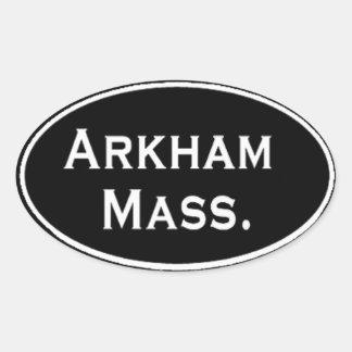 Massachusetts de Arkham Pegatina Ovalada