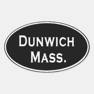Massachusetts de Dunwich Calcomanías Óvales Personalizadas