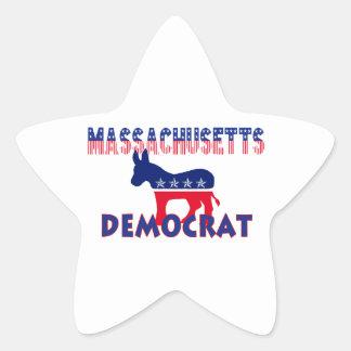 Massachusetts Demócrata Pegatina En Forma De Estrella