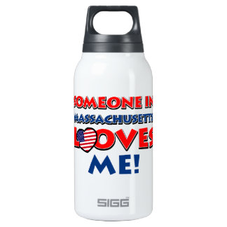 MASSACHUSETTS designs 10 Oz Insulated SIGG Thermos Water Bottle