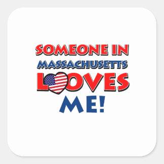 MASSACHUSETTS designs Square Sticker