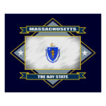 Massachusetts Diamond Poster