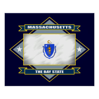Massachusetts Diamond Posters
