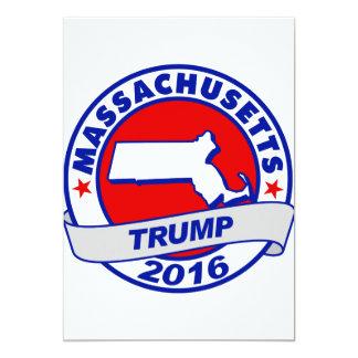 """Massachusetts Donald Trump 2016.png Invitación 5"""" X 7"""""""