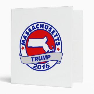 massachusetts Donald Trump 2016.png Vinyl Binders