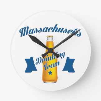Massachusetts Drinking team Round Clock