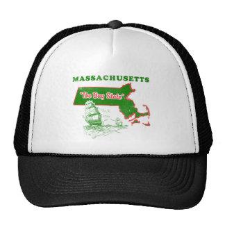 Massachusetts el diseño del estado de la bahía gorros bordados