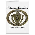 Massachusetts el sello del estado de la bahía tarjeton
