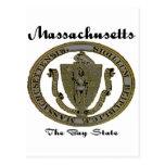Massachusetts el sello del estado de la bahía postal
