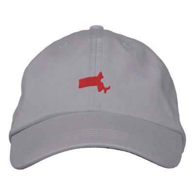 Massachusetts Embroidered Hats