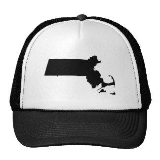Massachusetts en negro gorros bordados