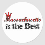 Massachusetts es los mejores pegatinas pegatinas redondas