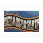 Massachusetts - escenas grandes de la letra tarjetas postales