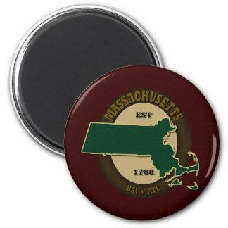Massachusetts Est 1788 2 Inch Round Magnet