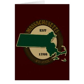 Massachusetts Est 1788 Card