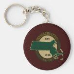 Massachusetts Est 1788 Key Chain