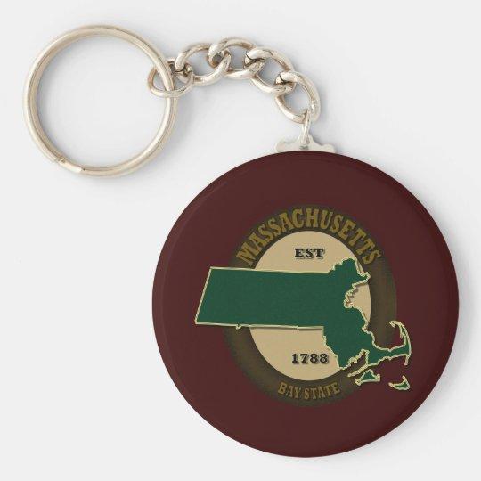 Massachusetts Est 1788 Keychain