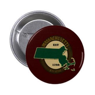 Massachusetts Est 1788 Pin Redondo 5 Cm