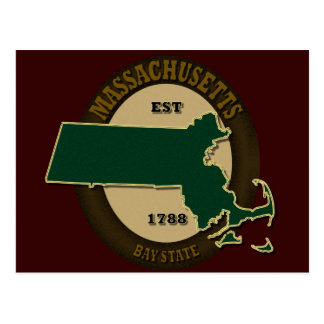 Massachusetts Est 1788 Postcard