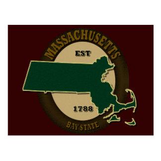 Massachusetts Est 1788 Tarjeta Postal