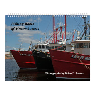 Massachusetts Fishing Boats Calendar 2014