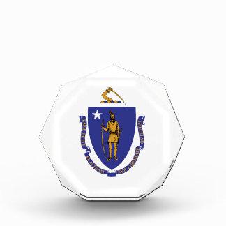 Massachusetts Flag Acrylic Octagon Award