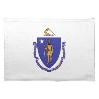 Massachusetts Flag American MoJo Placemat Cloth Place Mat