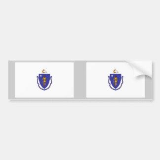 Massachusetts Flag Bumper Sticker